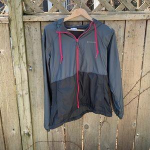 Columbia light shell jacket with fleece interior